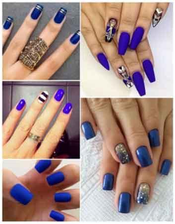 Modelos De Uñas Azul Marino Que Relucen En Cualquier